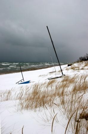Beached in Winter